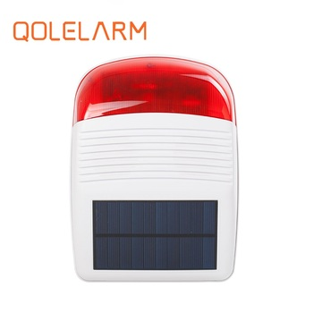 2018 New Solar Wireless Siren Flash 110dB Just for Our Alarm System 433MHz