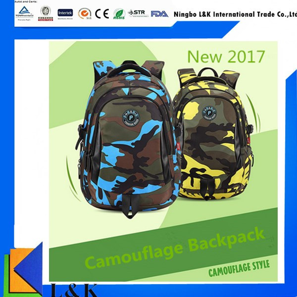 New Fashion Military Camouflage Waterproof Children School Backpack