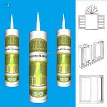 Transparent silicone sealant for window glazing