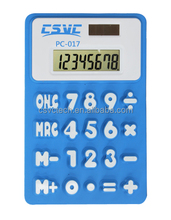 Factory price 8 digits solar soft touch silicone calculator