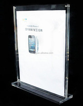 Hot sale Clear funny menu cover supermarket acrylic photo frame