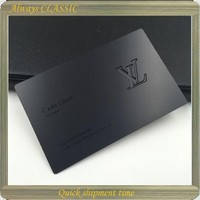 Wholesale customized logo black stainless steel metal business card