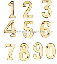 brass letters and numbers hardware
