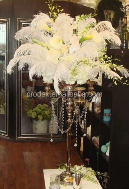 Wholesale tall wedding candelabra centerpiece ostrich