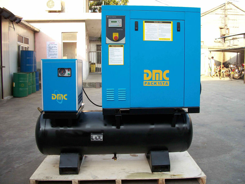 Oil free air compressor 1000 l/min 7-10bar with tank