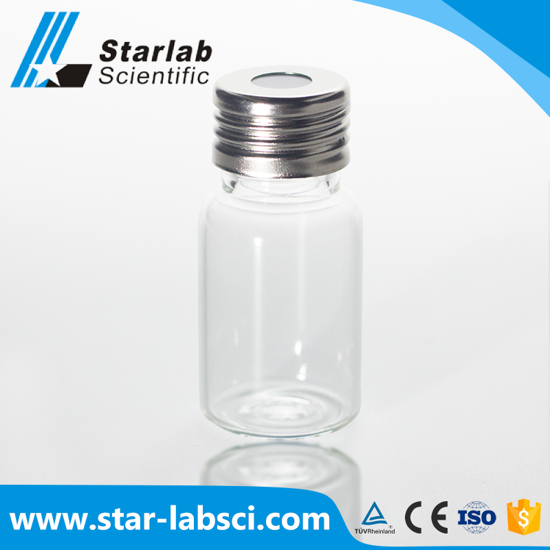 10ml clear glass screw cap vials