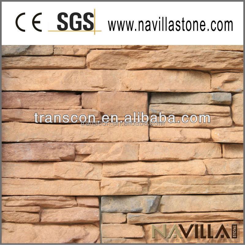 Chapa de revestimiento de decorativa piedra de peso ligero - Piedra decorativa exterior ...