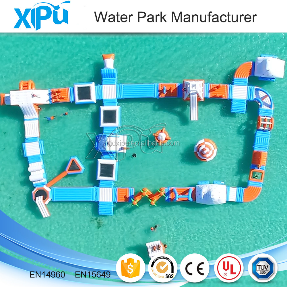 Giant inflatable floating water park equipment for sale ground aquapark games