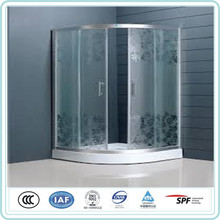 good quality solid structure bending curved glass shower screen for hotel
