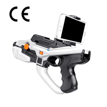 HTOMT 2017 Latest Intelligent AR Gun Virtual Reality toy gun Fashionable Game Toy Wood Bluetooth Shooting AR Toy Gun