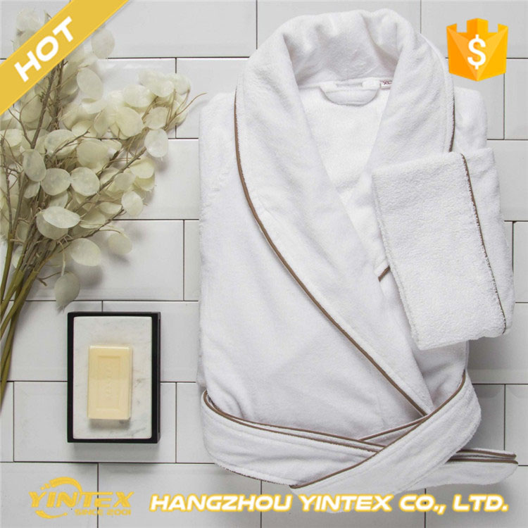 Bath robe thicken SPA cotton bath robe bath gown bathroom bathrobe embroidered terry cloth beach bathrobes