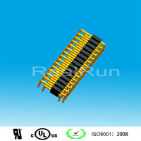 1.27mm Pitch Single Layer Double Row U Type 3 Pin Header