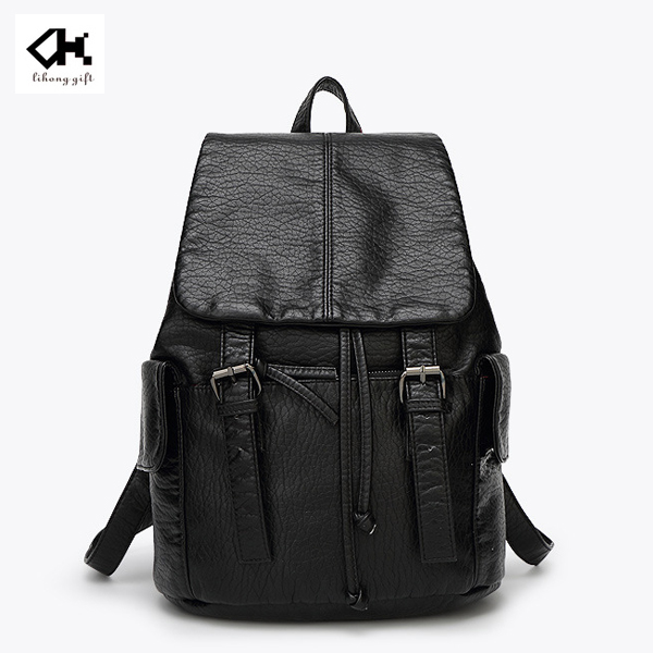 Popular leisure leather backpack brand for teens