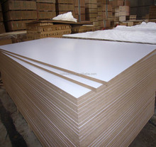 wholesale high quality melamine MDF board/white melamine waterproof MDF sheet