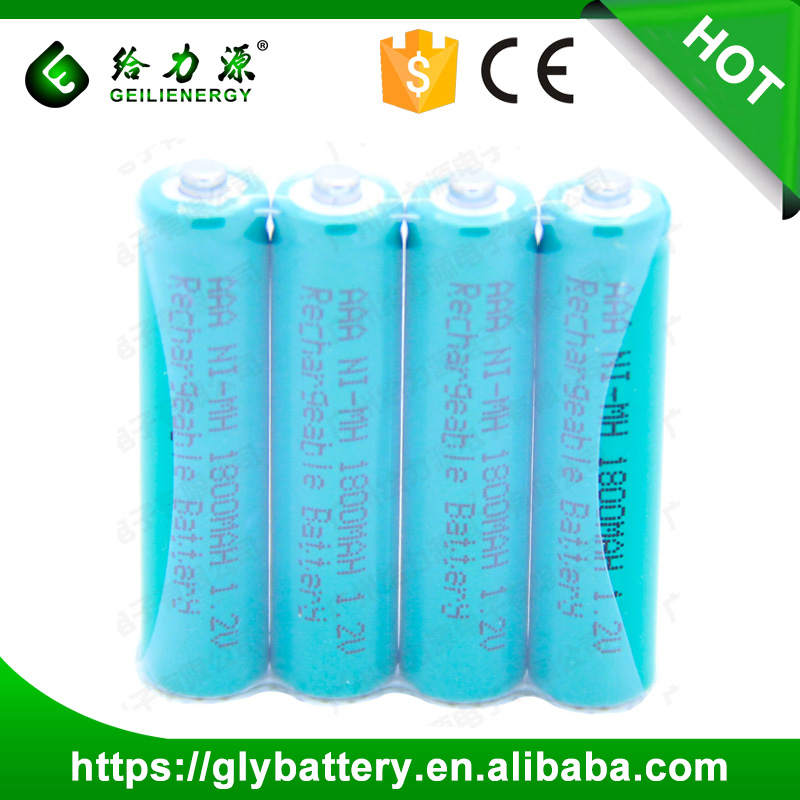 Deep Cycle Rechargeable NIMH AAA Cylindrical Battery 1.2V For The Toys