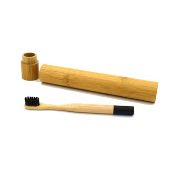 Superfine soft  natural round handle bamboo toothbrush bpa free