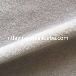 50%wool solid color synthetic wool sheepskin fur fabric for garment coat LYWG011