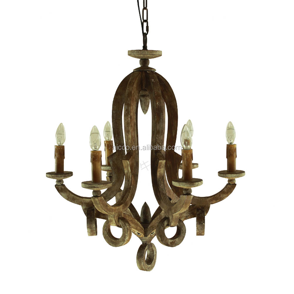 China supplier new product vintage wood chandelier buy for Wood pendant chandelier