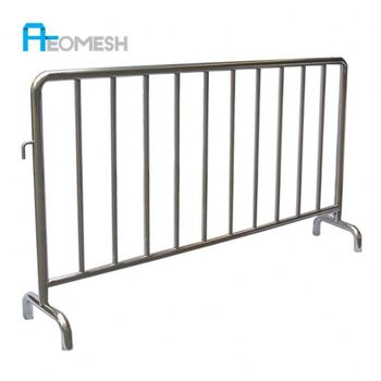 AEOMESH 304 Stainless Steel Temporary Fence Crowd Control Barriers