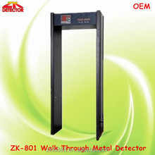 Gold Walk Throught Metal Detector door ZK-801 , 6 zones security detector doors