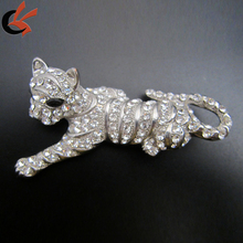 sparkly wholesale large lion rhinestone brooch