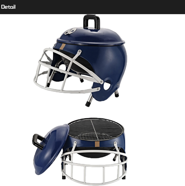 Football Helmet Grill : Outdoor indoor american football helmet portable charcoal