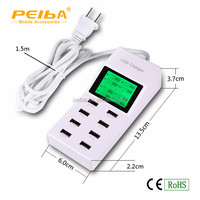 Factory price Multi functional 8 port usb socket charger with led display for iphone /Ipad /Samsung