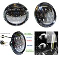 Upgrade DOT 75W high low beam round 7 inch led headlight for Jeep Harley