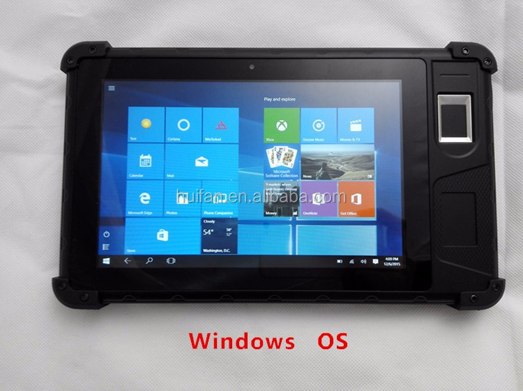 2016 Latest Windows Tablet TCS1 Fingerprint Head Barcode Scanning Handheld With 8 Inch Touch Screen FP08