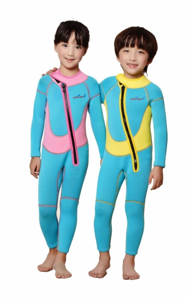 2.5mm Neoprene Wetsuits for Kids/Baby Spring/Winter/ Autumn Swimsuit  Thick Swim Suit Children Pink/Yellow SX/S/M/L/XL
