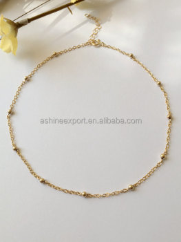Simple Delicate Ball Chain Choker Necklace
