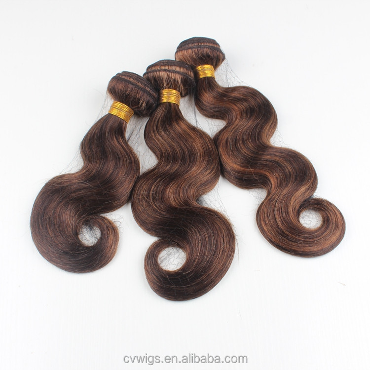 Best selling in stock body wave number 2 hair color weave