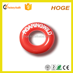 inflatable pvc custom color and logo printing swim ring