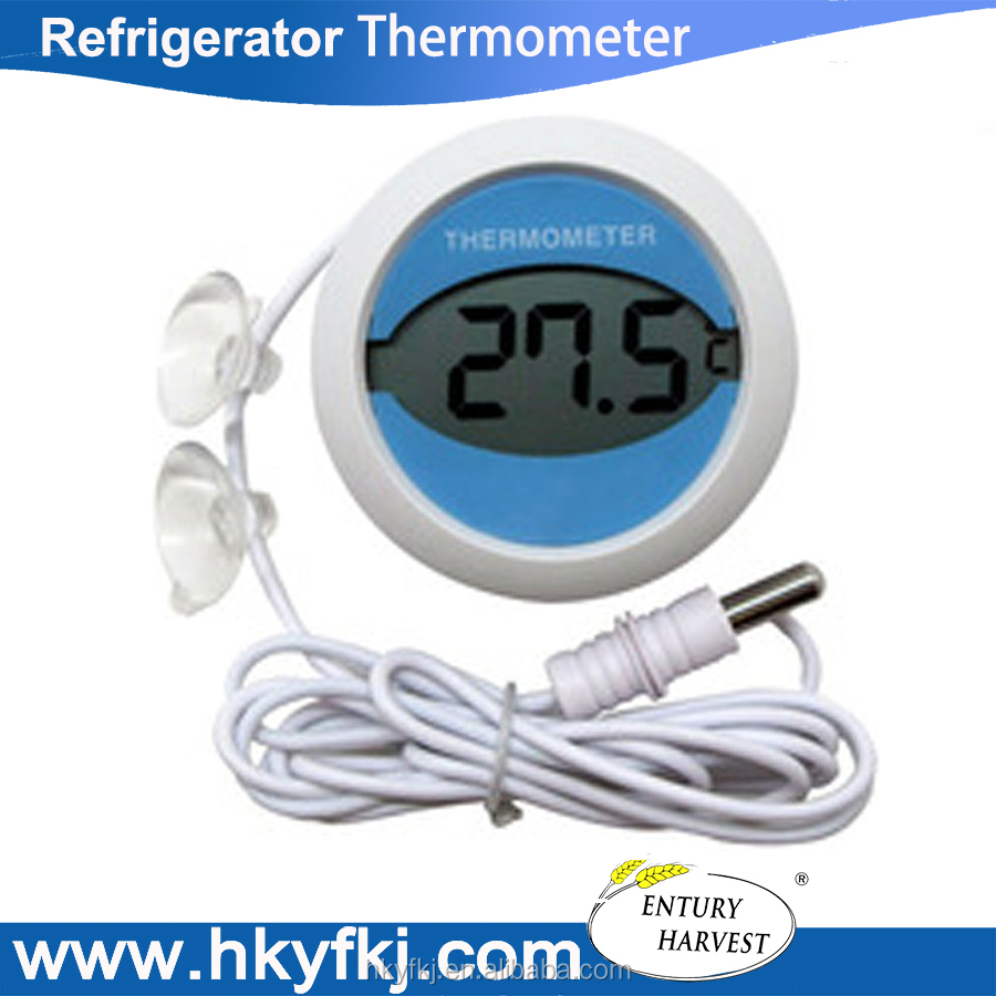 Wholesale refrigerator magnet thermometer digital round freezer refrigerator thermometer (S-W10)
