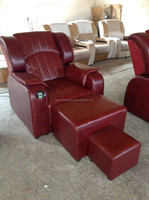 2015 Hot Sale Genuine Leather and Electric Foot Massage Sofa Chair(HH100)