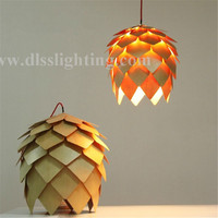 CE wooden pendant lamps for restaurant projects decoration