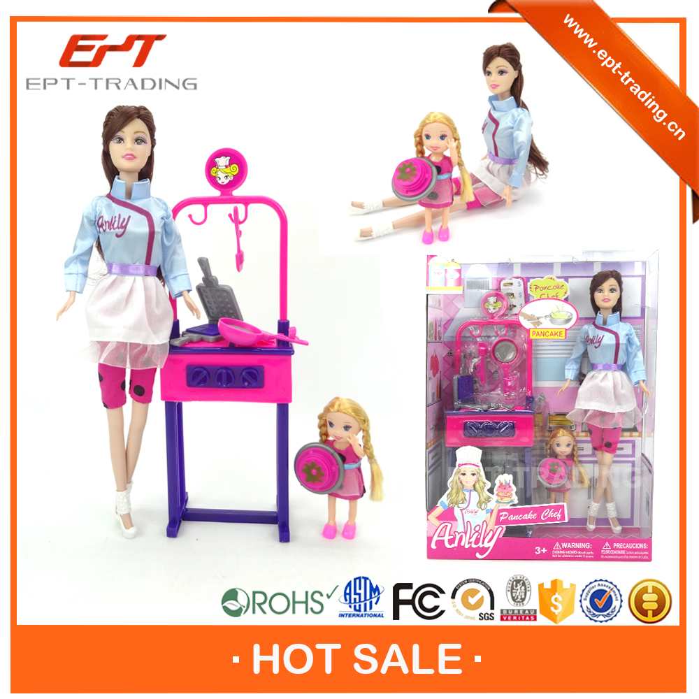 Crazy selling 11.5 inch plastic small fashion toy doll for sale