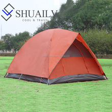 Four Season Large Outdoor Camping Tent Waterproof For Family 3 Person With Pole Green Orange Hiking Tourist Tent For Fishing