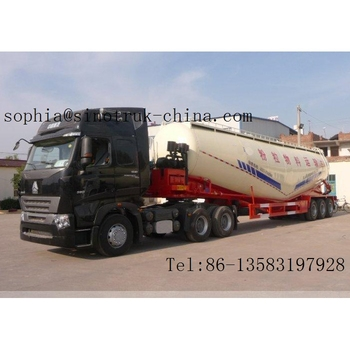 60m3 3-Alxe bulk cement trailer for sale