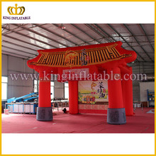 Advertising inflatable type building, custom shape inflatable tent, inflatable red tent