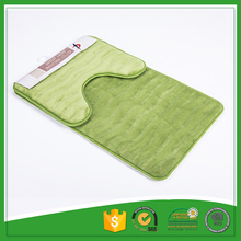 Eco-Friendly Microfiber 100% Polyester Material 2 Piece Bath Mat Set