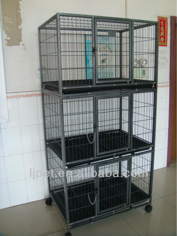 D192A-3F, Square tube Big dog cage, 3 floors cage