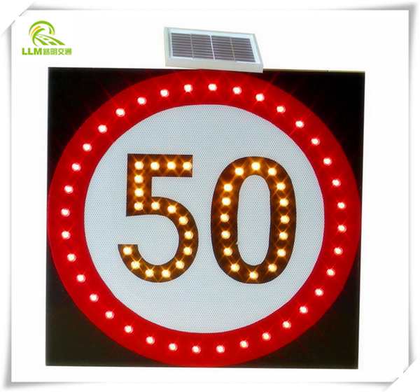 Solar traffic stop sign slow down light power led Solar lights