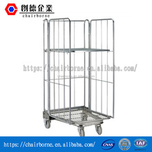 Durable galvanized steel warehouse cart with heavy duty