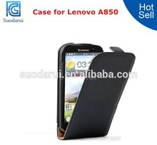 Mix Colors High Quolity Flip Case Leather Case for Lenovo A850