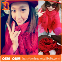 Best Popular Super Thick Red Cashmere Scarf Pashmina