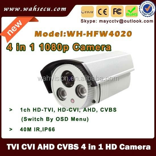 Hot sell ip66 ir bullet 2mp Full HD 1080P CVI AHD TVI CVBS 4 in 1 battery operated outdoor wireless security camera