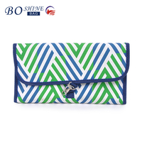 DONGGUAN BOSHINE Custom bling leather gradient color cheap cosmetic bag girls makeup beauty case