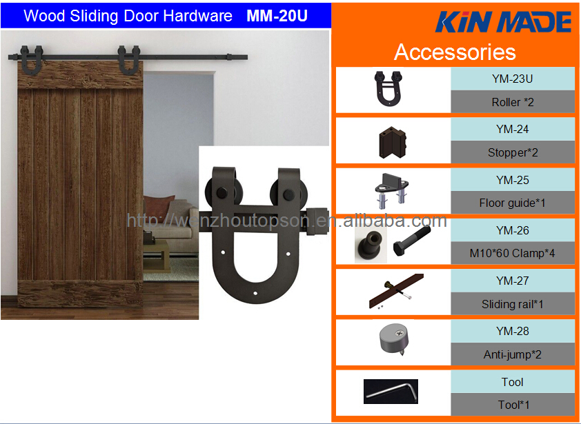 Antique Sliding Barn Wood Barn Door Hardware Carbon Steel Set Kit Home