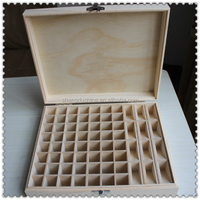 Antique new arrival handmade unfinished charismatic large wooden essential oil box wholesale